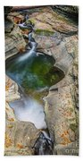 Gorge Trail In Autumn Watkins Glen Beach Towel