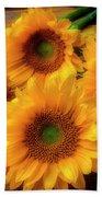Gorgeous Lovely Sunflowers Beach Towel
