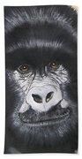 Gorilla On Wood Beach Towel
