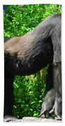 Gorilla Posing Beach Towel