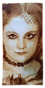Goth Lady Beach Towel