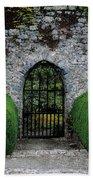 Gothic Entrance Gate, Walled Garden Beach Towel