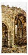 Gothic Temple Ruins - San Domingos - Vintage Version Beach Towel
