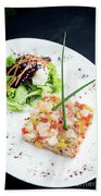 Gourmet Raw Tuna Tartare Ceviche With Mango Lime And Chilli Beach Towel