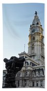 Government Of The People And City Hall Philadelphia Beach Towel