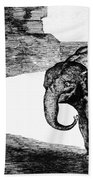 Goya: Elephant, C1820 Beach Towel