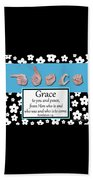 Grace - Bw Graphic Beach Towel