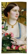 Grace Rose Beach Towel by Anthony Frederick Augustus Sandys