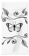 Graceful Butterfly Baby Room Decor Iv Beach Towel