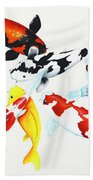 Graceful Koi Beach Towel