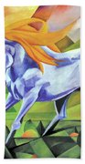 Graceful Stallion With Flaming Mane Beach Towel
