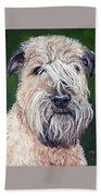 Gracie, Soft Coated Wheaten Terrier Beach Towel
