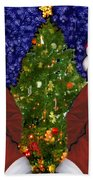 Gracies Christmas Tree Beach Sheet