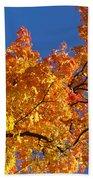 Gradient Autumn Tree Beach Towel