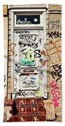 Graffiti Doorway New Orleans Beach Towel