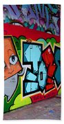 Graffiti London Style Beach Towel