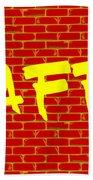 Graffiti Red Wall Beach Towel