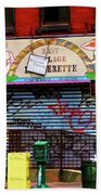 Graffiti Village Store Nyc Greenwich  Beach Towel