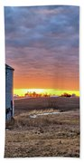 Grain Bin Sunset 2 Beach Towel