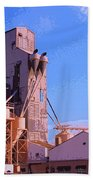 Grain Elevator Beach Towel