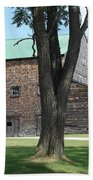 Grammie's Barn Through The Trees Beach Towel