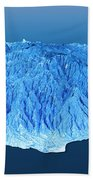Gran Canaria Topographic Map 3d Landscape View Blue Color Beach Towel