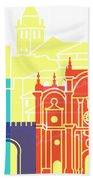 Granada Skyline Pop Beach Towel