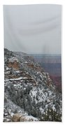 Grand Canyon In Snow Beach Towel