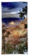Grand Canyon In Winter Beach Towel by Jim DeLillo