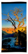 Grand Canyon National Park Winter Sunrise On South Rim Beach Towel