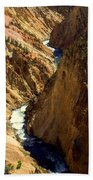 Grand Canyon Of The Yellowstone 2 Beach Towel