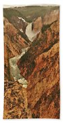 Grand Canyon Of The Yellowstone Vertical Panorama Beach Towel
