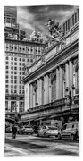 Grand Central At 42nd St - Mono Beach Towel
