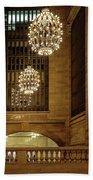 Grand Central Terminal Light Reflections Beach Towel