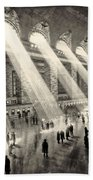 Grand Central Terminal, New York In The Thirties Beach Towel
