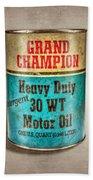 Grand Champion Motor Oil Beach Towel