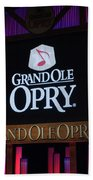 Grand Ole Opry House In Nashville, Tennessee. Beach Towel