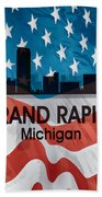 Grand Rapids Mi American Flag Squared Beach Towel