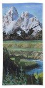 Grand Teton And Snake River Beach Towel