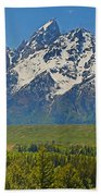Grand Teton National Park And Snake River Beach Towel