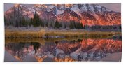 Grand Teton Snake River Sunrise Reflections Beach Towel