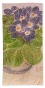 Grandma's Violets Beach Towel