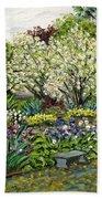 Grandmother's Garden Spring Blossoms Beach Towel