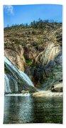 Granite Mountain Waterfall Panorama Beach Towel
