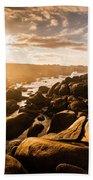 Granville Harbour Tasmania Sunrise Beach Towel