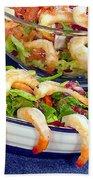 Grapefruit And Shrimp Salad Beach Towel