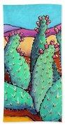 Graphic Cactus Beach Towel