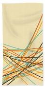 Graphic Line Pattern Beach Towel by Setsiri Silapasuwanchai