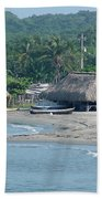 Grass Huts Colombia Beach Towel