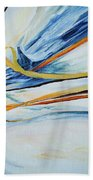 Grasses In The Snow Beach Towel